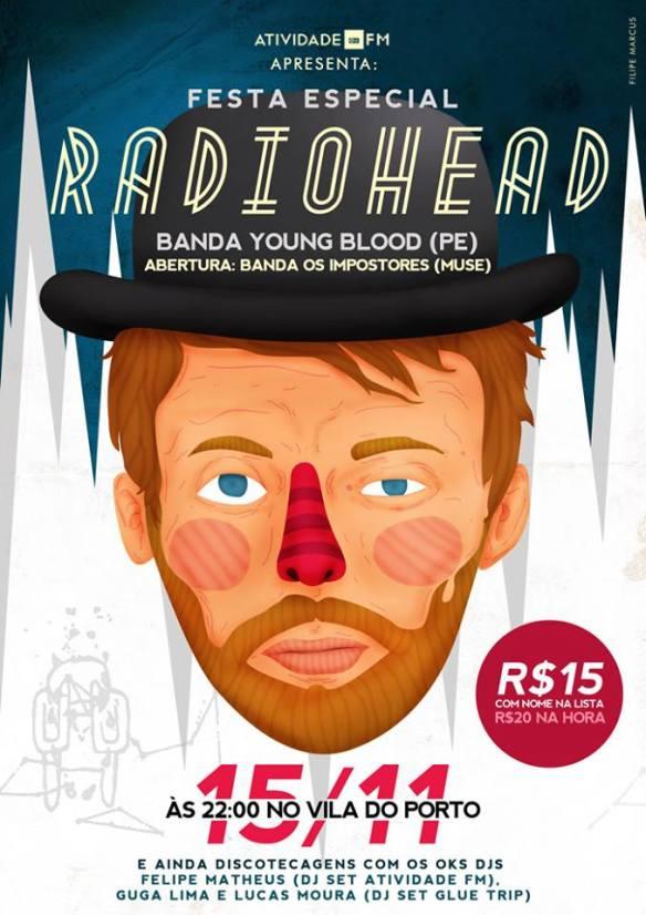 Festa especial radiohead - flyer