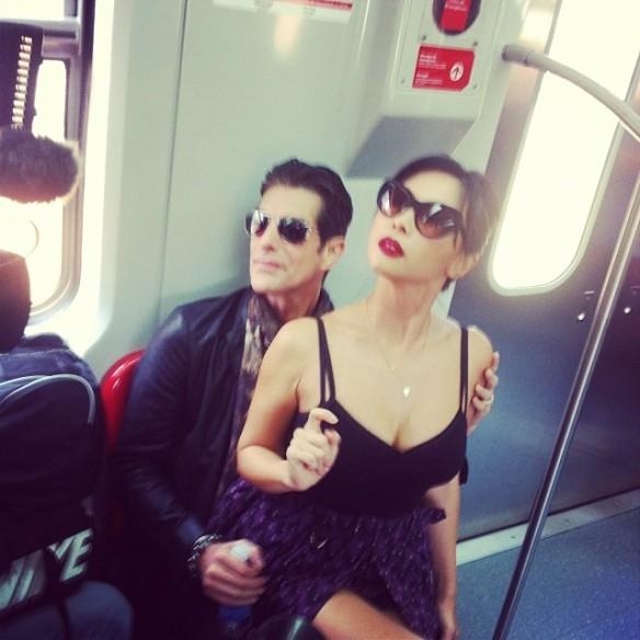 Perry no trem